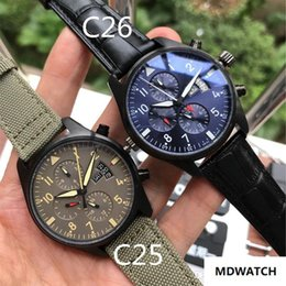 $enCountryForm.capitalKeyWord Australia - Luxury watch automatic mechanical movement 316 stainless steel case mineral glass mirror pilot six-pin weekday display fashion leather strap