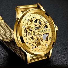 $enCountryForm.capitalKeyWord Australia - New Fashion Mechanical Watch Men Skeleton Design Top Brand Luxury Golden Mesh Strap Waterproof Male Automatic Clock Reloj Hombre J190614