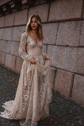 T Shirt Dress Split Up Sides Australia - 2019 Handmade Long Sleeves Prom Dresses Applique High Split Deep V Neck Lace Evening Dresses Junior Skinny Girl Party Gowns Bridal Gowns