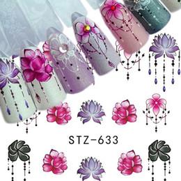 $enCountryForm.capitalKeyWord Australia - 200pcs Nail Art Water Transfer Sticker Decals Watermark Nail Stickers Mixed Flower Cartoon Manicure Wraps Decor