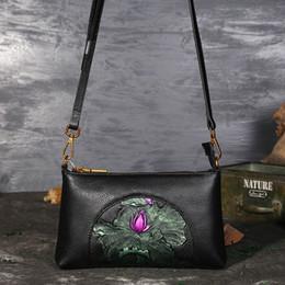 $enCountryForm.capitalKeyWord Australia - New Retro Leather Handbags Diagonal Cross Bag First Layer Cowhide Large Capacity Zipper Clutch Shipping Dhl
