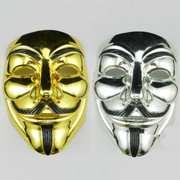 $enCountryForm.capitalKeyWord Australia - Halloween Shiny Metallic Suits Cospaly Mask Devils Style Casual Apparel Fashion Silver Gold Mardi Gras Costume Accessories