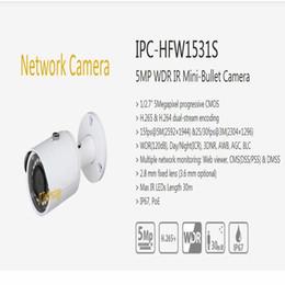 Mini Weatherproof Security Camera NZ - Free Shipping DAHUA Security CCTV IP Camera 5MP WDR IR Mini-Bullet Camera With POE IP67 Without Logo IPC-HFW1531S