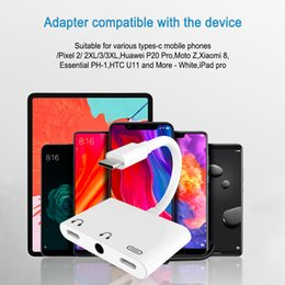 Usb Audio Jack Music Australia - Popular Products 2019 Dual Type C Audio Jack Adapter Support Music and Call for Google Pixel 3XL USB C to Aux Adapter