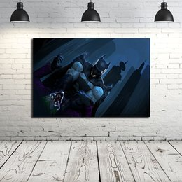 Hero Paintings Australia - Batman hero Nordic Superhero Marvel Movie Posters Canvas Painting Oil Framed Wall Art Print Pictures For Living Room Home Decoracion
