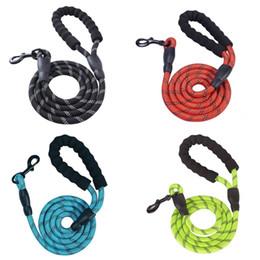 Long rope dog Leads online shopping - Reflective Large Dog Leash Nylon Rope Pet Running Tracking Leashes Long Lead Dog Mountain Climbing Rope For Medium Large Big