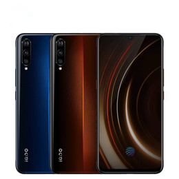 "vivo mobile phones android UK - Original VIVO IQOO 4G LTE Cell Phone 12GB RAM 256GB ROM Snapdragon 855 Octa Core Android 6.41"" 13MP NFC Fingerprint ID Smart Mobile Phone"