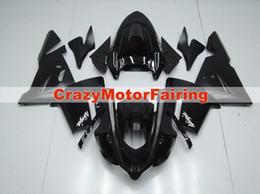 Novos kits de carenagens de motocicleta ABS de alta qualidade apto para kawasaki Ninja ZX10R 2004 2005 ZX-10R 04 05 carenagem personalizada carenagem preto vendas quentes! em Promoção