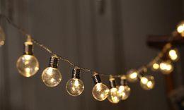 $enCountryForm.capitalKeyWord UK - 5m 40LED Globe Bulb String Lights Battery operated Festoon Led Fairy Lights Holiday Christmas Led Light Garland Beads