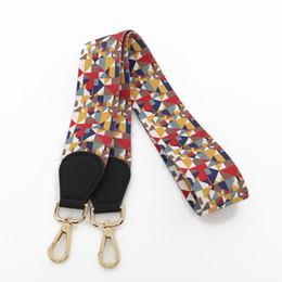 $enCountryForm.capitalKeyWord UK - Vintage Long Handbag Strap Fabric Colorful Flower Chain Shoulder Bag Accessory Wide Belt Strap Holder For Cross Body Bag