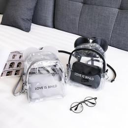 Clear Pvc Backpacks NZ - good quality Mini Size Transparent Women Backpacks Clear Pvc Teenager Girls Zipper Student School Backpack Travel Micke Bag D41