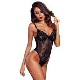 22f78545a5 Sexy Lace Bodysuit Teddy Hot Lingerie Women Bra Panties One Piece Underwear  Bra Brief Set