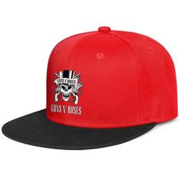 White Black Hats For Kids Australia - Guns N' Roses logo skull white black for men and women flat brim hats red snapback cool kids hats sports make your own custom your own cust