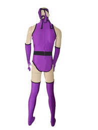 Funny Party Suits Australia - New style Custom Purple Ninja Superhero Costume Halloween Party Zentai Suit