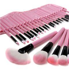 32pcs Set Professional Makeup Brushes Portable Full Cosmetic Make up Brushes Tool Foundation Eyeshadow Lip brush with PU Bag New on Sale