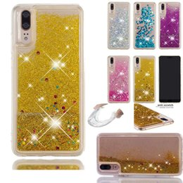 Discount glitter iphone silicone - Liquid Quicksand Silicone Glitter Case Cover For Huawei P smart P30 20 Pro Lite For iPhone XS Max XR X