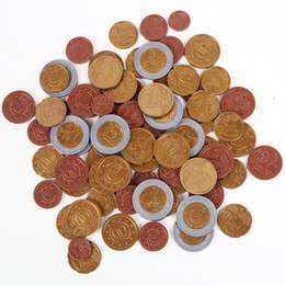 Wholesale SET OF 80 plastic EURO COINS   play money NEW maths school Learning Resourc 1 2 10 20 50 cent & euro 1 2