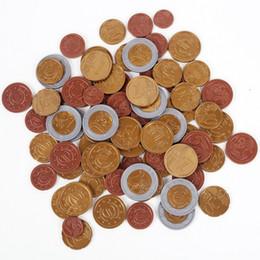 Vente en gros Ensemble de 80 pièces de jouets en plastique EURO Pièces de monnaie joue de l'argent Maths School apprenant la ressource Cent cent