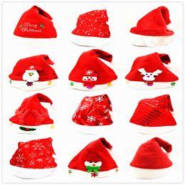 Adult beAnies online shopping - Kids Festival Hat snowman elk sequins Santa Claus Hats Long Plush Cloth Child Christmas party Holiday Xmas beanies cap LJJA3328