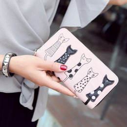 cat credit card Canada - Women Wallets 18072 New Arrival Large Capacity Best Selling Lovely Cat Pattern Printed Zipper Purse Wallet
