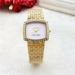 italy quartz watches Canada - High Quality Italy Fashion Brand Women All-steel strap Quartz Wristwatches Luxury Dress Watch Reloj Mujer For Female montre femme