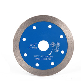 diamond cutting blades NZ - Porcelain Ceramic Tiles Cutting Disc 4.5 Inch D115mm Hot Press Sintered Diamond Saw Blades Whole Continuous Segment 10PCS