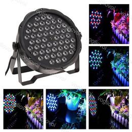 PAR LUCE 30W 54LEDS * 0,5 W RGBW Spot 7ch DMX512 Voice Attivato per Disco DJ Stage Lighting Christmas Party Effect ABS DHL in Offerta