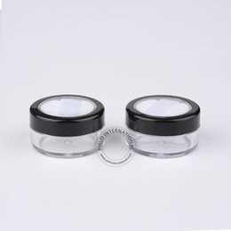 Refillable powdeR online shopping - 100pcs g Empty Plastic Powder Jar With Sifter Soft Puff ml Refillable Black Cosmetic Bottle Travel Face Cream Packaging