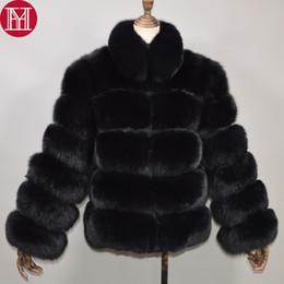 $enCountryForm.capitalKeyWord Australia - New Women Winter Thick Warm Real Genuine Fox Fur Coat Real Fox Fur Jacket High Quality Big Stand Collar Overcoat