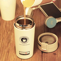 hot mugs Canada - Hot Fashion 380ml Stainless Steel Coffee Mugs Insulated Water Bottle Tumbler Thermos Cup Vacuum Flask Premium Travel Coffee Mug