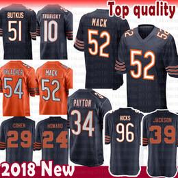 52 Khalil Mack 34 Walter Payton Chicago Bears Jersey 54 Brian Urlacher 29  Tarik Cohen 96 Akiem Hicks 39 Eddie Jackson 24 Howard 51 Butkus c86da8e0f