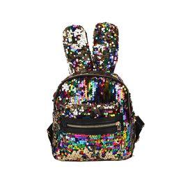 Handbag Boutiques NZ - Baby Girls Rabbit ears Backpacks Cartoon Sequin Kids Mini bunny Shoulders bag Boutique fashion travel Purse Handbag 6 colors
