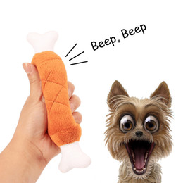 Pet Toy Chicken Australia - Cute Dog Toy Pet Puppy Plush Sound Chew Squeaker Squeaky Double bones Chicken leg Toys Lovely Pet Toys 30pcs DHL Free Shipping
