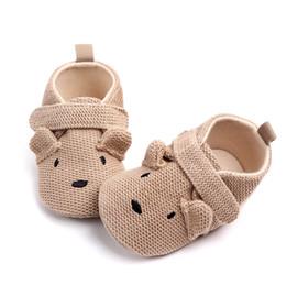 $enCountryForm.capitalKeyWord Australia - Adorable Infant Slippers Toddler Baby Boy Girl Knit Crib Shoes Cute Cartoon Anti-slip Prewalker Baby Handmade Crochet Shoes