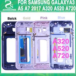 Galaxy A3 Housing Australia - New Middle Frame Plate for Samsung Galaxy A3 A320 A5 A520 A7 A720 2017 Version Mid Chassis Bezel Housing With Power Side