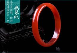 Fine Jewelry Jade Set Australia - Koraba Fine Jewelry Chinese Natural Red Agate Chalcedony Ice Jade Bangle Bracelet Free Shipping