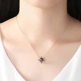 $enCountryForm.capitalKeyWord Australia - engagement S925 sterling silver necklace female clavicle chain Korean fashion freshwater pearl pendant necklaces women mother's day gift
