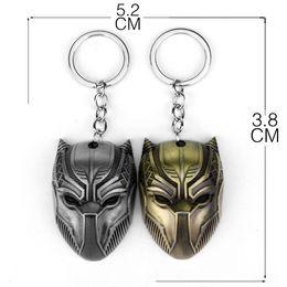 Marvel Comics Black Panther Keychain Für Männer Superheld Captain America Bürgerkrieg Chaveiro Metal Key RingChain Schmuck Geschenk