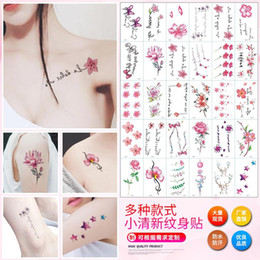 2a351bf19 30pcs Literary and Art Small Fresh Letter Tattoos Waterproof Sweat  Disposable Tattoo Sticker Flowerbow Temporary Tattoo Sticker
