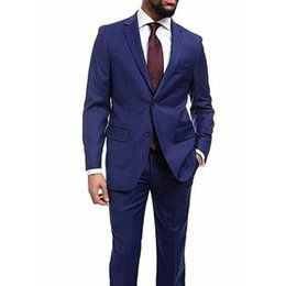 $enCountryForm.capitalKeyWord Australia - Formal Men Suits for Wedding Suits Navy Blue Business Man Blazer Groom Wedding Tuxedos Ternos Slim Fit Costume Homme Trajes de Hombre 2Piece