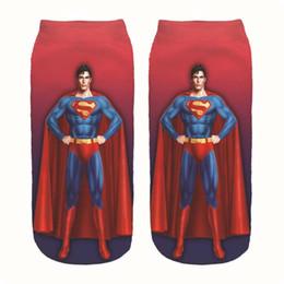 23c43dd31 100Pairs lot Super-man Costume Socks 3D Print Cosplay Woman Ankle Socks  Superhero Summer Casual Sports Socks 10 Styles