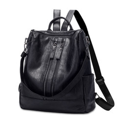 $enCountryForm.capitalKeyWord UK - HERAGHINI High Quality PU Leather Women Backpack Fashion School Bags For Teenager Girls Casual Women Black Backpacks #274526