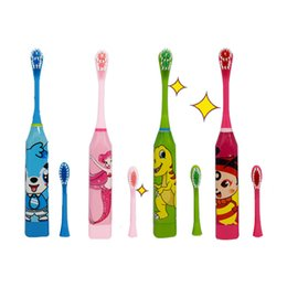 Children brushing teeth online shopping - Children Electric Toothbrush Cartoon Pattern Double sided Tooth Brush Electric Teeth Brush For Kids with Replacement Head