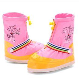 Discount elephant print shoes - Children Reusable Cartoon Shoe Covers Elephant Printing Waterproof Rain Boot Cover Anti-Slip Kids Overshoes Outdoor Wate