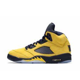 $enCountryForm.capitalKeyWord UK - Mens Jumpman retro aj 5s basketball shoes FAB 5 PE Michigan Yellow Navy Black Red Blue Boys kids air flights sneakers boots with box size 13