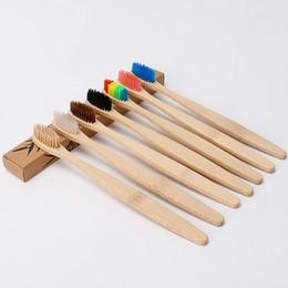 Ingrosso Tooth personalizzata nuovo modo di bambù del carbone di legna spazzolino morbido nylon capitellum Bamboo spazzolini da denti per Hotel Travel Brush made in China