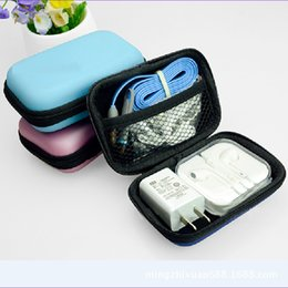 Headphones Jewelry Australia - Case Container Coin Headphone Protective Storage Box Headphone Case Travel Storage Bag For Earphone Data Cable Charger