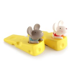 furniture pens UK - HHO-Cute Door Stops Cartoon Creative Silicone Door Stopper Holder Toys For Children Baby Home Furniture Hardware kennels pens
