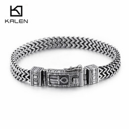 man woman symbol rings Australia - KALEN 8mm Egyptian Ankh Symbol of Life Charm Bracelets For Men Women Stainless Steel Silver Mesh Linking Chain Bracelet Jewelry V191217