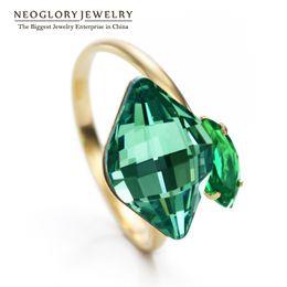 $enCountryForm.capitalKeyWord UK - charm ring Neoglory Austrian Crystal Adjustable Finger Charm Rings Fashion Gifts Girls Birthday Custom Mother Jewelry 2018 New JS9 Crys-r